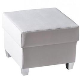 Bílý čalouněný taburet Anselma